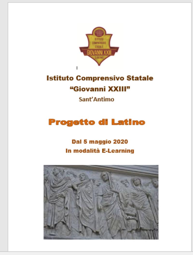 PROGETTO DI LATINO -scadenza 31/05/2020